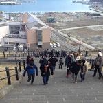 説明会の後は、女川の山歩き。海も山も楽しめるのが女川町の魅力です。