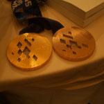 金メダルと銅メダル