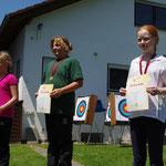 Schülerklasse B/weibl. 3. Platz Nina-Marie Saup (rechts)   (© Th. Hepner)
