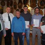 Ehrenurkunde des Vereins für: Markus Büchner, Jürgen Scheler-Stöhr, Felix Meusel, Mario Kiesewetter und Tommy Scheler-Stöhr