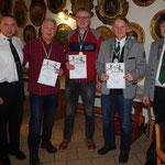 Siegerehrung für: Michael Tschernich, Hartmut Michel, Thilo Heublein,