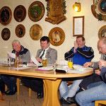 Das Präsidium mit dem Vorstand