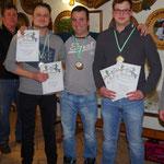 Siegerehrung für: Felix Meusel, Christoph Stegner und Felix Sauerteig