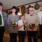 die neuen Mitglieder: Julia Triebel, Iven-Manuel Weber, Dieter Malter und nicht dabei: Michael Burmeister