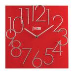 Orologio da Parete al Quarzo con Numeri Metallo in Rilievo cm 30x30