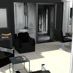 Projet de relooking salon de coiffure personnalisé en 3D