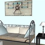 Projet décoration intérieure personnalisée maison de vacances