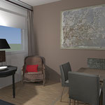 Projet 3D aménagement salon, salle à manger