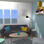 Décoration intérieure style scandinave par Catherine René