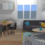 Décoration intérieure style scandinave par Cote & Déco