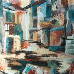 pestrost v ulici, 56x75cm 2001, p.l.