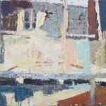 rumeni balkon olje na les, 23x35,5cm 2001