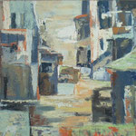 kraska ulica s spahnjenco, olje, 80x100cm 2001