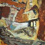 Zid ob štali, olje na platno, 160x115cm 2002