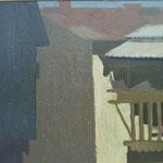 Ulica in trnit, olje na platno, 50x60cm 2000