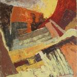 Ruševine nad stopnicami, olje na platno, 85x75cm 2002