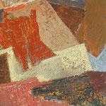 Iz vrha streh , olje na les, 106x44,5cm 2002 p.l.