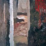 Gasa s krvjo , akril na platno, 55,5x46cm 1999 p.l. maribor