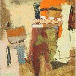 Ena cudna hiša, olje na karton,50,5x35,5cm2003