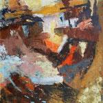 Kraški vrtinci pod gankom, olje na platno, 126x100cm2003.mar.p.l