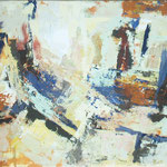 senca na stenah, akril, 55x 75,5 2001