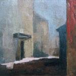 Ulica s krvjo, olje na platno, 50x65cm 2000. p.l.