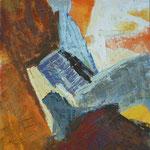 rumeno okrog stopnic, olje, 75x85cm 2002