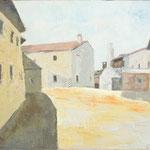 Plac v vasi, olja na platno, 40x60cm1999