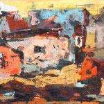 uničenje z barvami, olje, 60x120cm 2007 p.l.