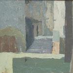 Stopnice za cerkvijo, akril na platno, 46x68,5cm 1999.