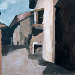 Gasa za kraško hišo , akril na platno, 50x60cm 1999