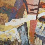 Lojtra v barvah, olje na platno, 60x80cm 2002 p.l.
