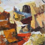 Rdeca cesta , olje na platno, 85x75,5cm 2002