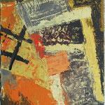 Križi in stopnice , olje na leseno plošco, 36x23cm 2002. p.l