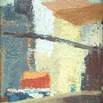 Stene in strehe , olje na karton, 35x25cm 2000