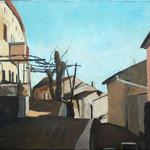 Ulica v gornjem Štanjeli , olje na platno, 50x70cm2000