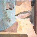 Pri Milki babci, akril na platno, 45x60cm 1999