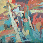 Abstrakcija, olje na platno, 90x110cm2003, p.l.