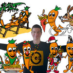 Sympathieträger   Maskottchen   Cartoon   freundlich   Kunden   Info   frisch