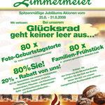 Plakat DIN A1 | 80. Jubiläum | Bäckerei Zimmermeier | Ahlen