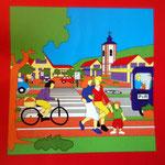Stadt Siegen   Kinderstadtplan   Vektorzeichnung   1992