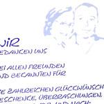 Dankkarte   Paar   Hochzeit   Portrait   Pinsel   Tusche