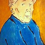 Portrait einer alten Dame   Ölkreide auf Papier   DIN A 1