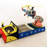 190.Radar Helicopter  - Marca BILLER -Made in Western Germany -1960