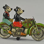 Circa-1932 Tippco (Germany) lithographed-tin clockwork, Mickey and Minnie Mouse, estimated at $23,000-$28,000