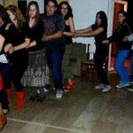 Dancing traditiona Romanian dance