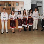 Traditional Romanian costumes in Romanian night