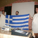 Greek participants presenting culture of Greece