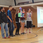 Participants present their invention at a local school of Balatonalmadi