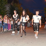 "Clothes from waste - presented by two Greek and one Albanian participant in Brus ""fashion show"""